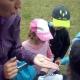 Łąka i jej mieszkańcy - zajęcia badawcze w plenerze w grupie Pszczółki